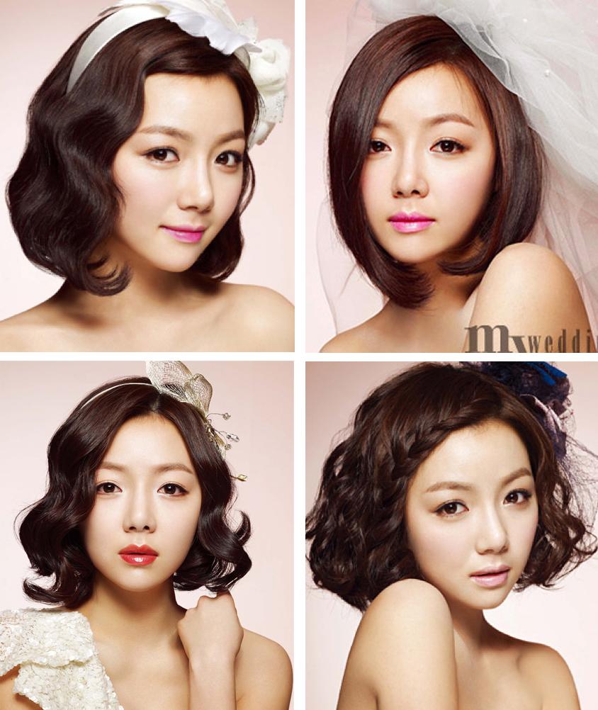 Wedding Hairstyle Korean: Korean Wedding Hair & Makeup